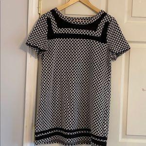 Anthropologie Black and white mini dress